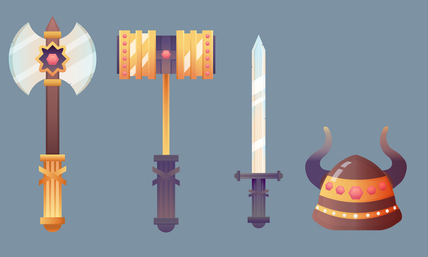 Fantasy Game Weapons Adobe Illustrator Tutorial