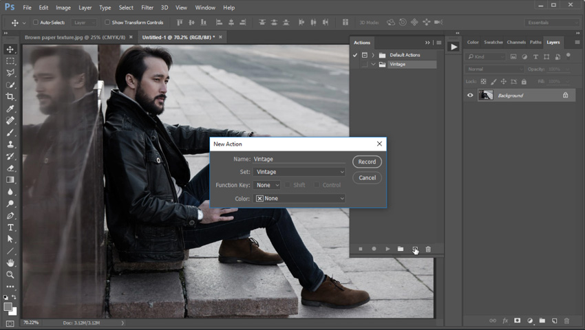 Create a New Action in Photoshop