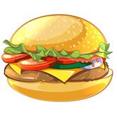 Vector Burger in Adobe Illustrator