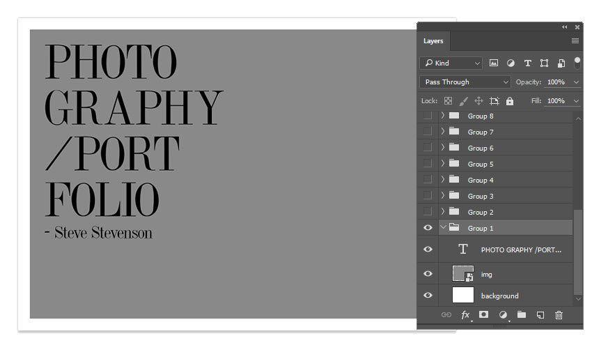 Portfolio Layers in Photoshop