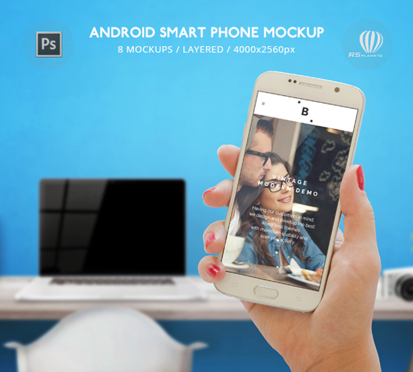 Android Smart Phone Mockup