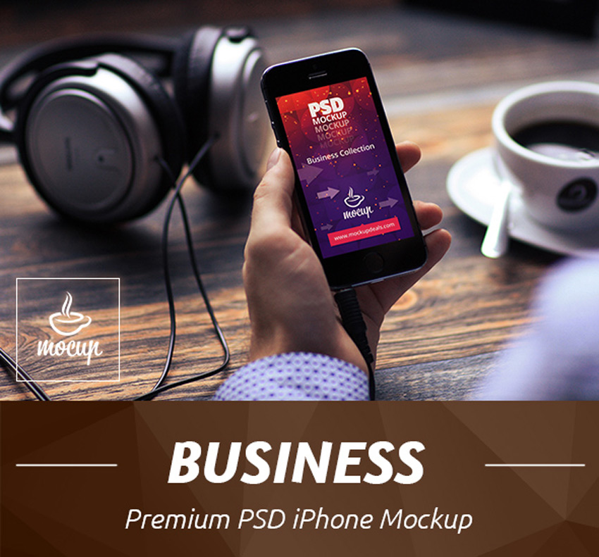 Business iPhone Mockup