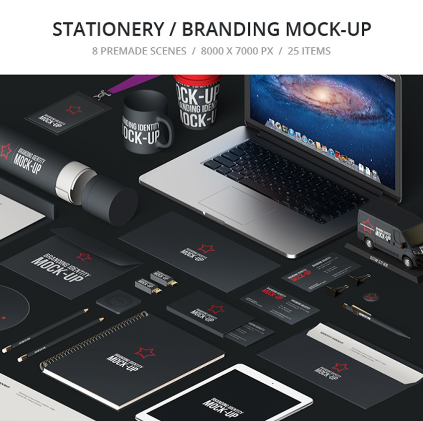 Stationery  Branding Mock-Up Bundle