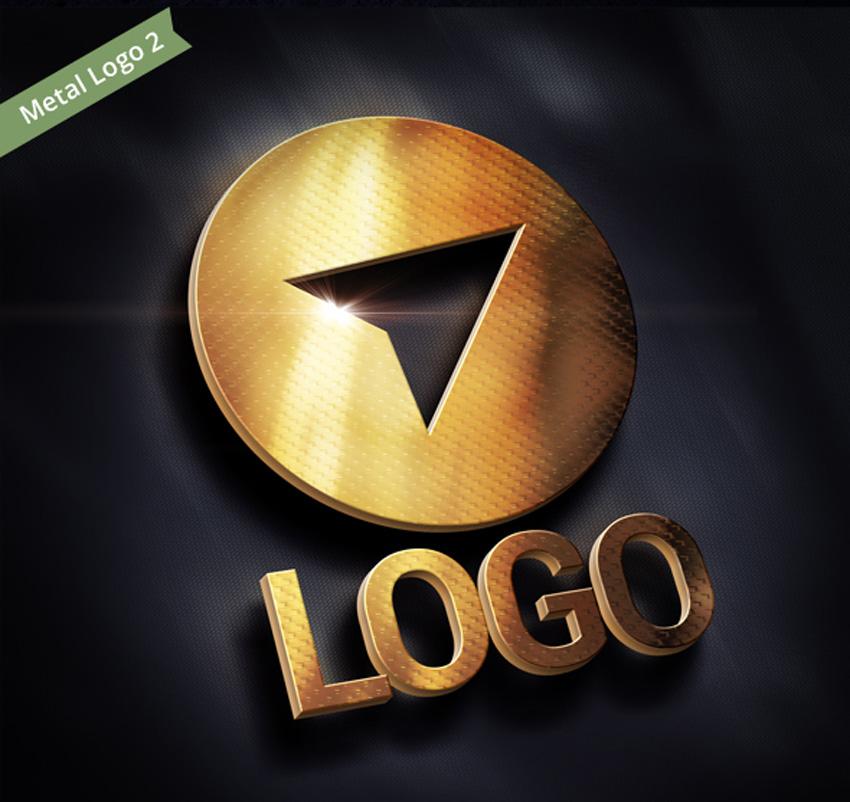 Four 3D Logo Mockups