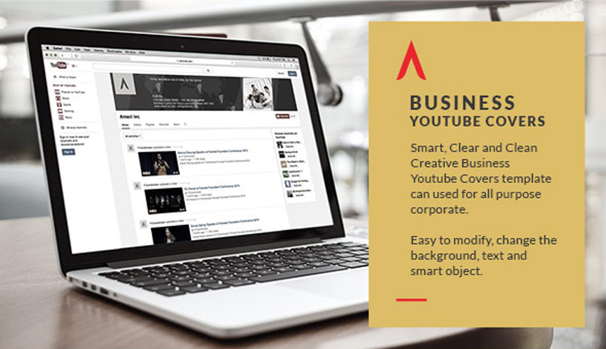 Business YouTube Channel Art Covers