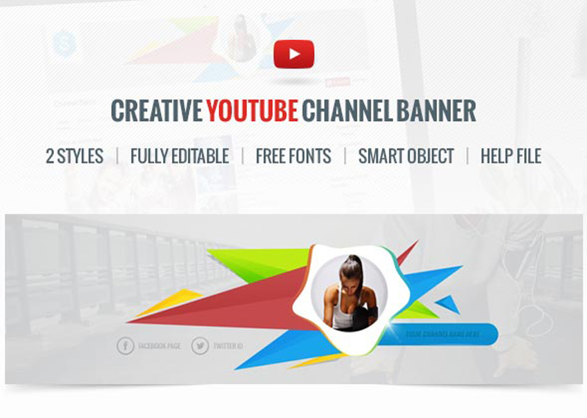 41 Creative Youtube Banner Templates
