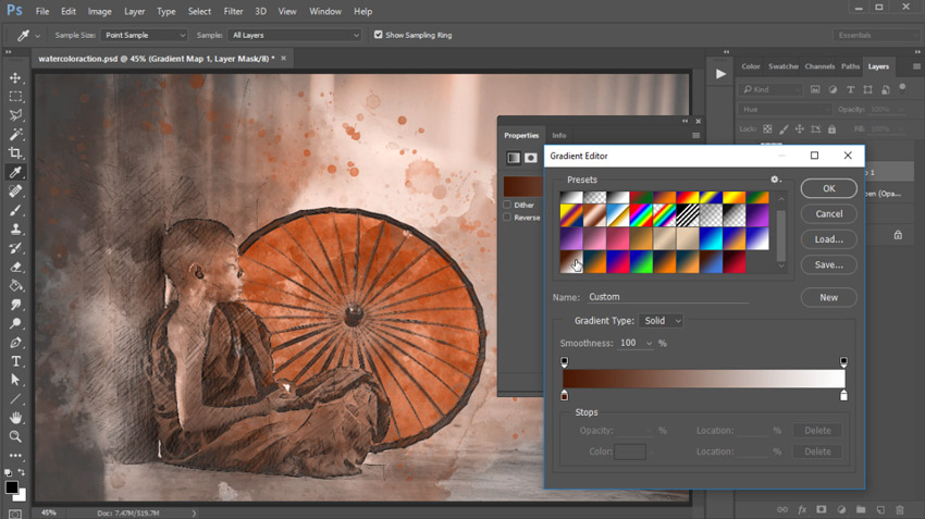 How to Create an Artistic Watercolor Background Effect (With a Photoshop Action)