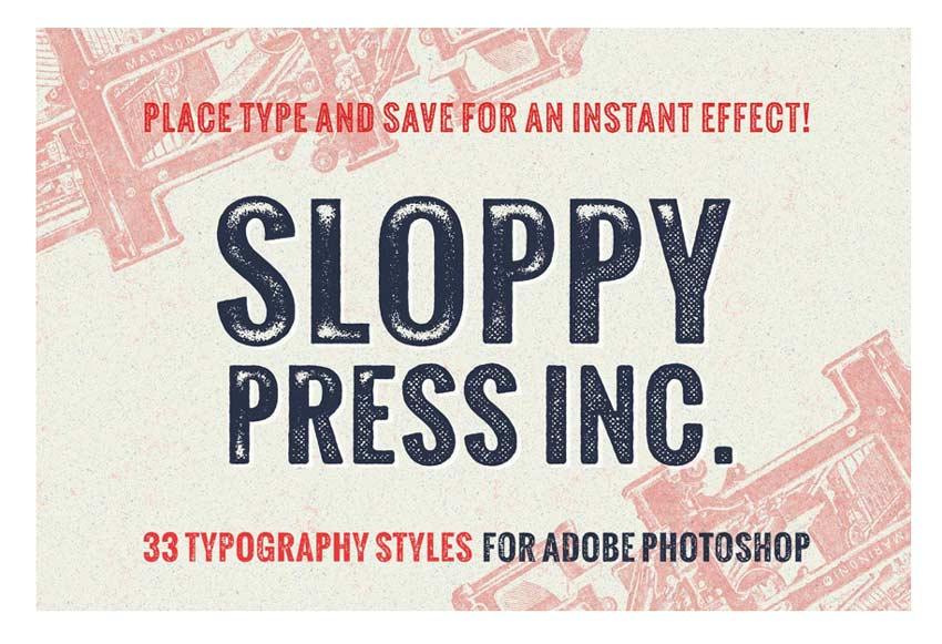 Sloppy Press Inc Typography Styles