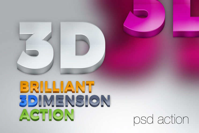 Brilliant 3D Text Action
