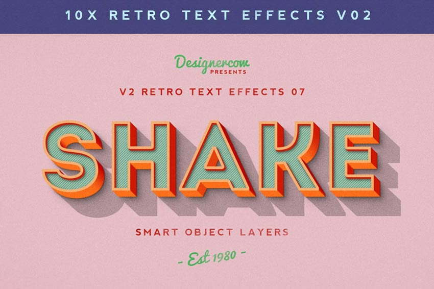 Retro Text Effects V2