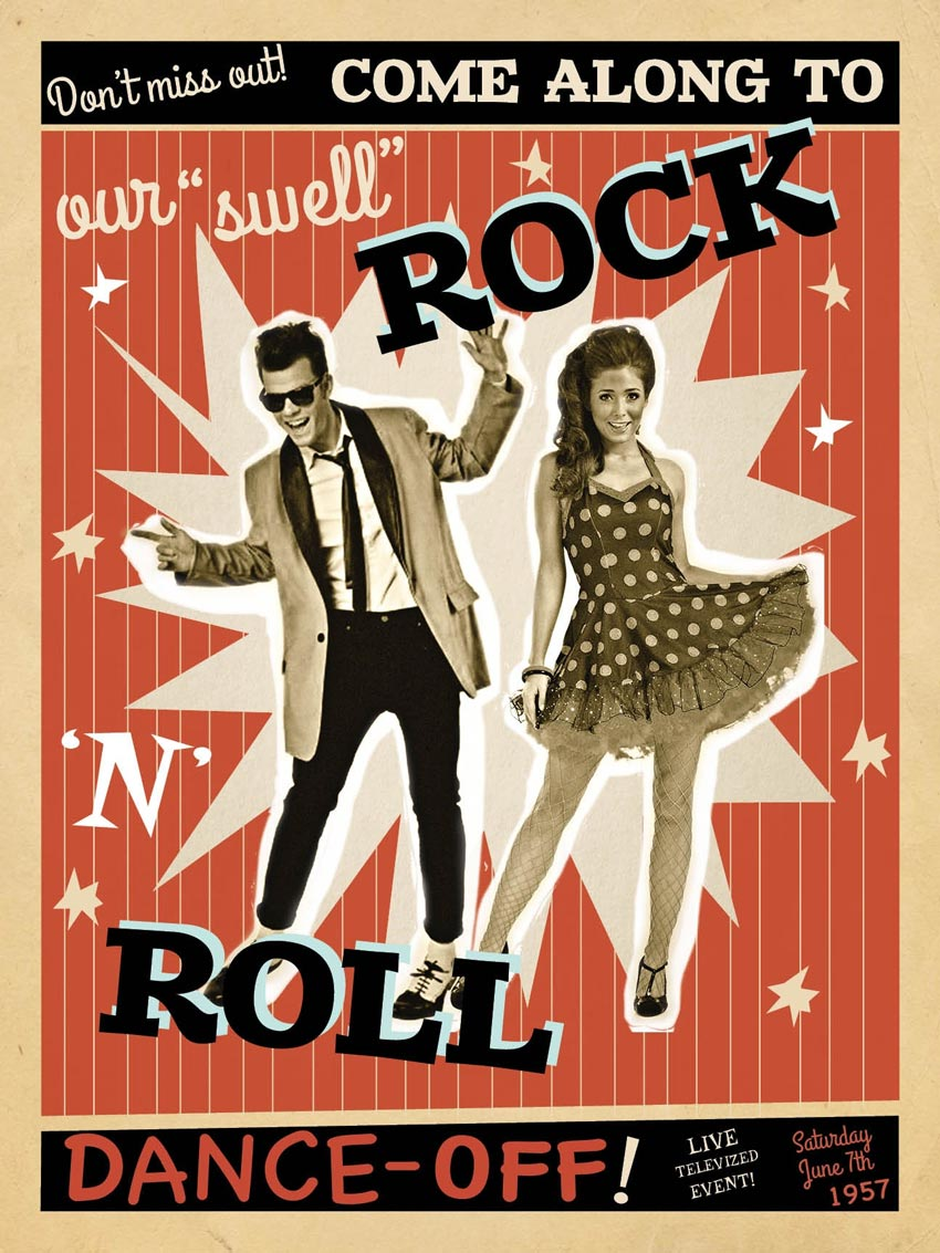 Vintage Rock Event Poster Adobe InDesign Tutorial
