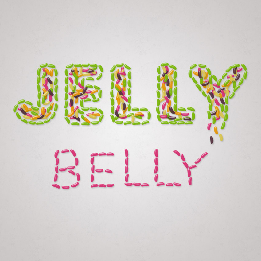 Jelly Bean Text Effect Adobe Photoshop Tutorial