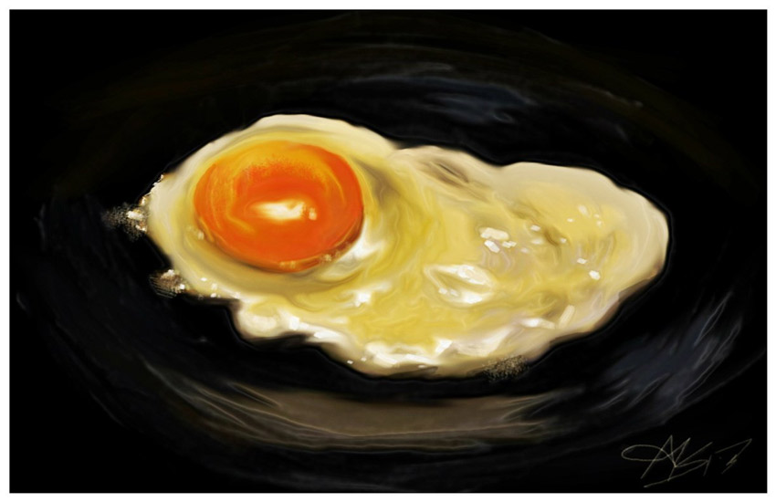 Realistic Fried Egg Digital Painting Tutorial