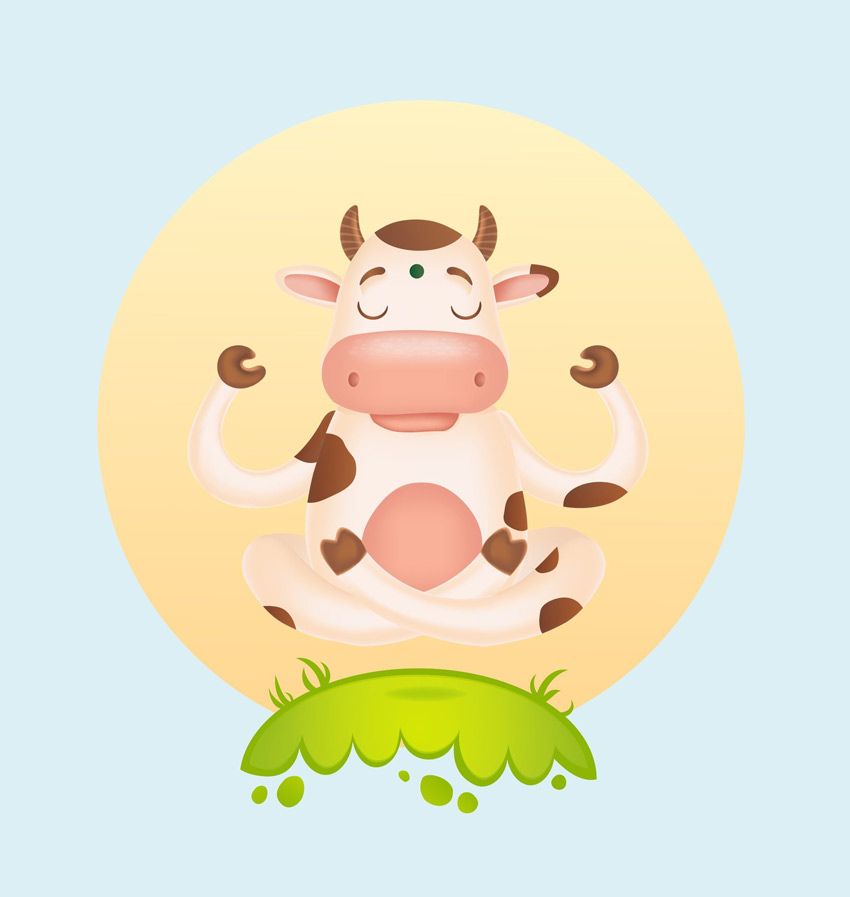 Cartoon Cow Adobe Illustrator Tutorial