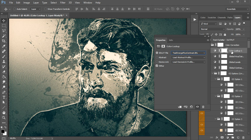 How to Create a Paint Splatter Photo Effect (With a Photoshop Action)