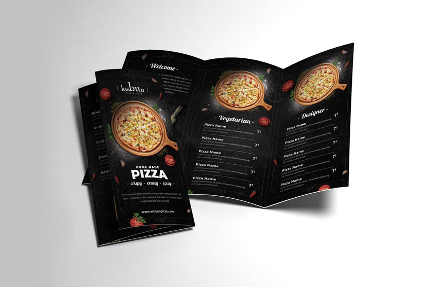 Pizza Menu Trifold