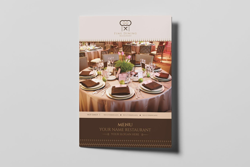 Fine Dining Restaurant - Menu Template