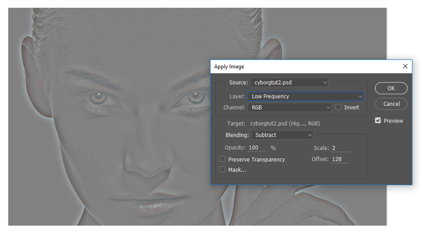 Apply Image Settings - Frequency Separation