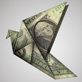 Create Origami Birds Using One Dollar Bills