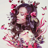 Floral Portrait Photo Manipulation