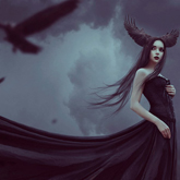 Gothic Crow Lady Photo Manipulation