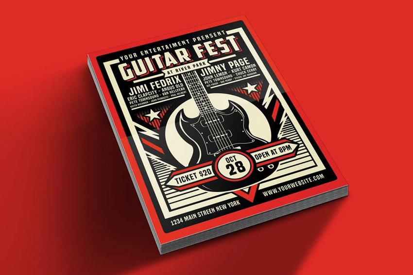 Guitar Festival Flyer Template