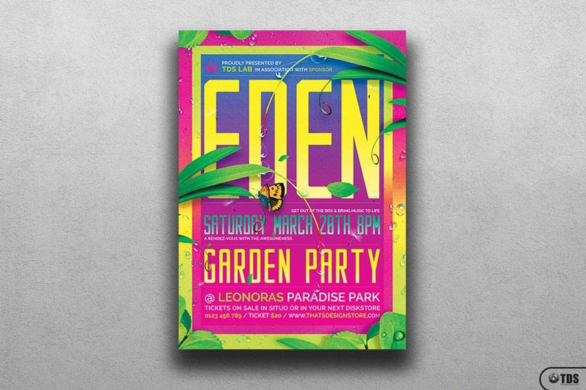 Garden Party Flyer Template
