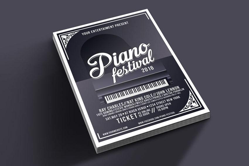 Piano Festival Flyer Template