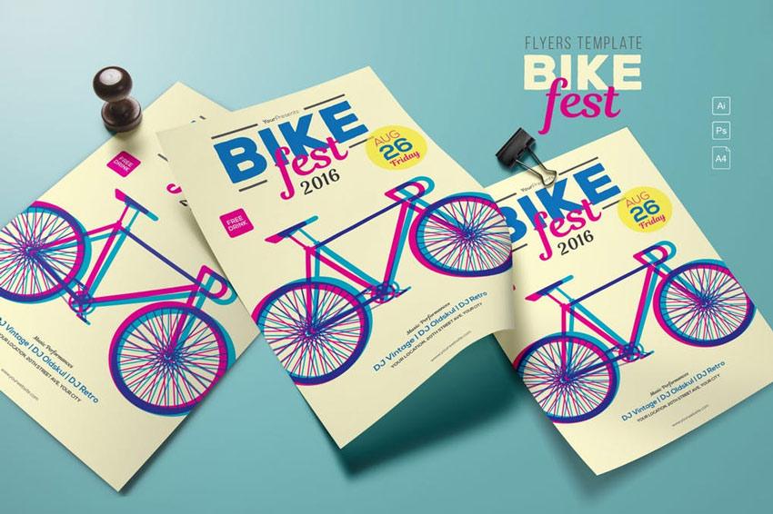 Bike Fest Flyers Template