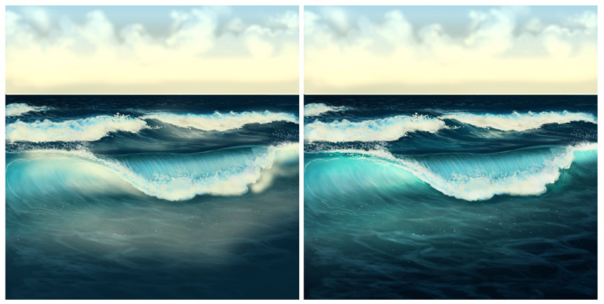 How to Paint Water, Waves, and the Ocean in Adobe Photoshop