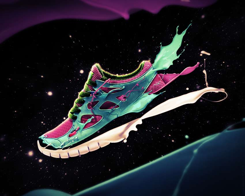 Paint Splashing Shoe Effect Photoshop Tutorial