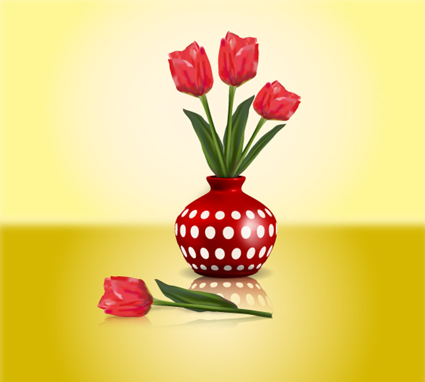 Tulip Illustration Adobe Illustrator Mesh Tool