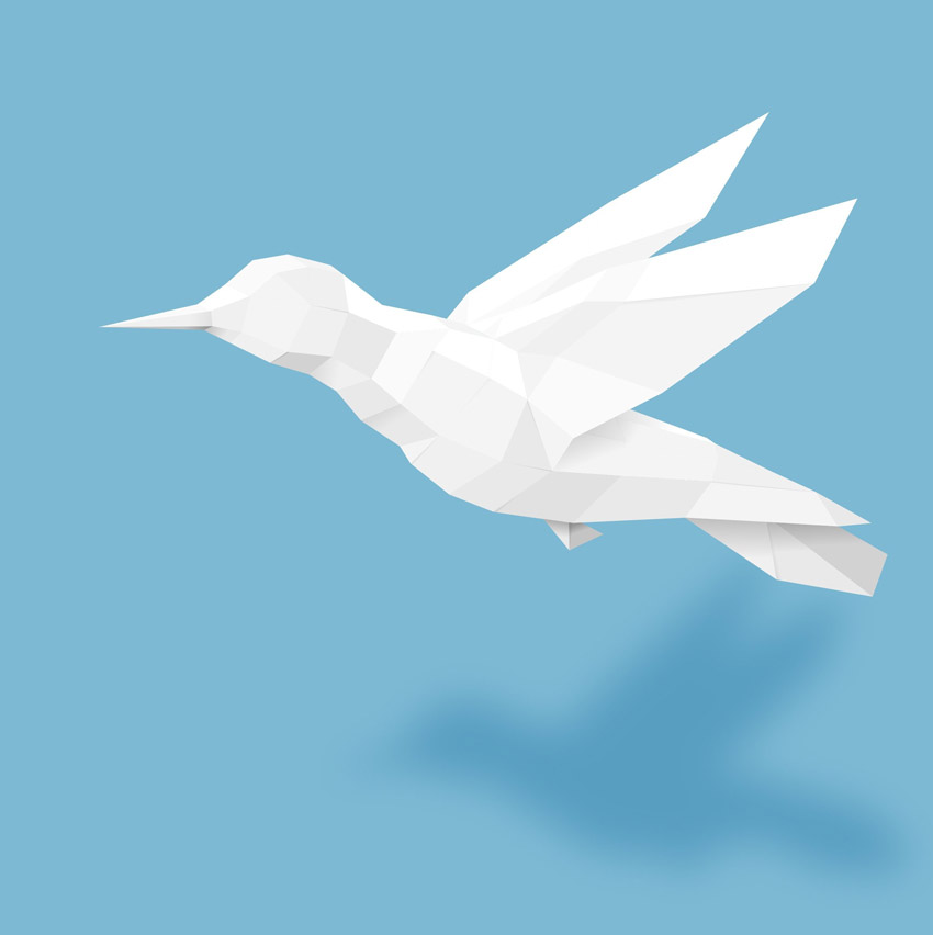 Paper Bird Adobe Illustrator Tutorial