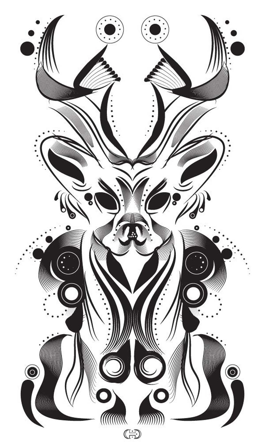 Stylish Deer Illustration Adobe Illustrator Tutorial