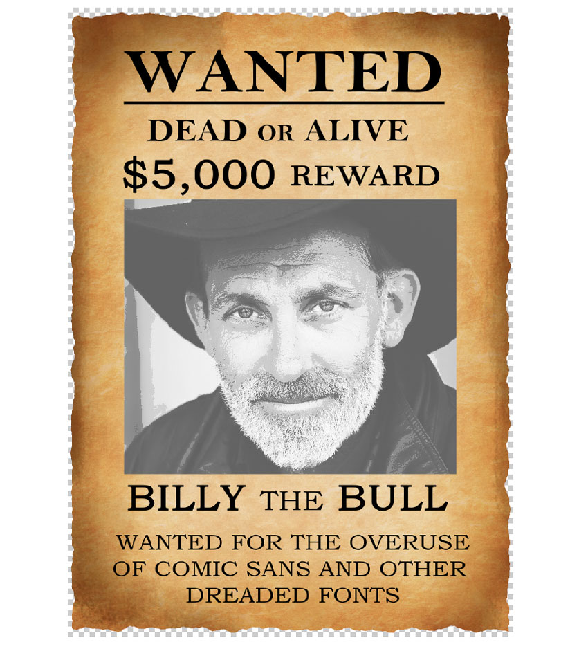 How To Create A Wanted Poster Photo Manipulation In Adobe
