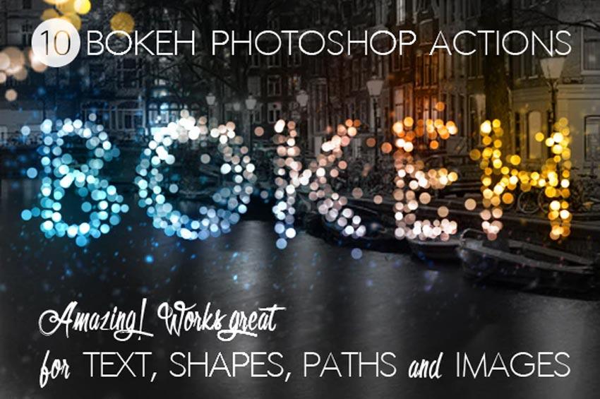 Bokeh Lights Photoshop Actions