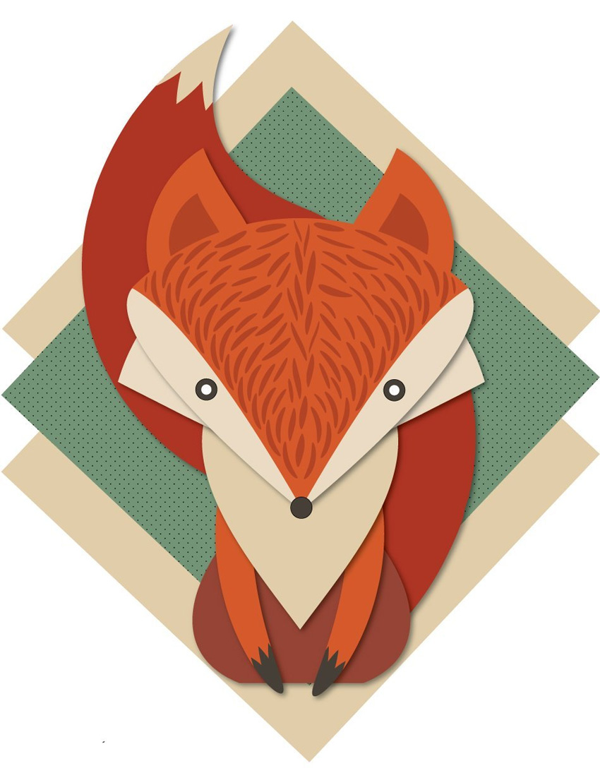 How to Create a Retro Fox Illustration in Adobe Illustrator