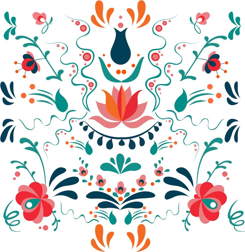 Design a Colorful Hungarian Folk Art Pattern in Adobe Illustrator
