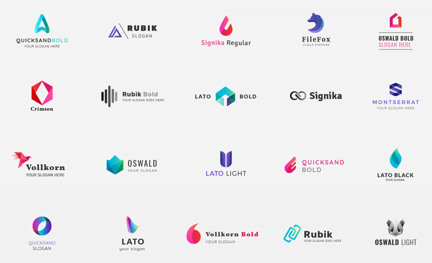 Corporate Gradients Logo Kit