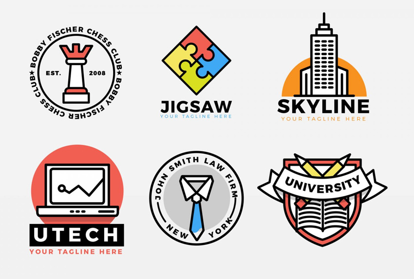 Corporate Bold Icons Logo Kit