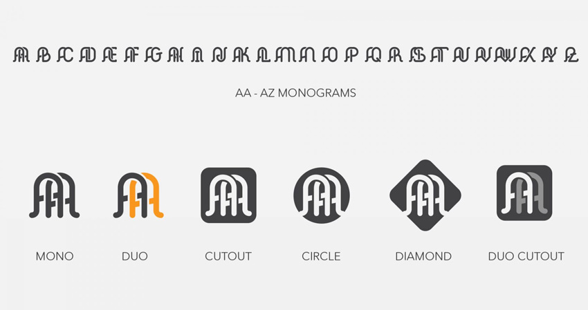 Elegant Monogram Logo Kit