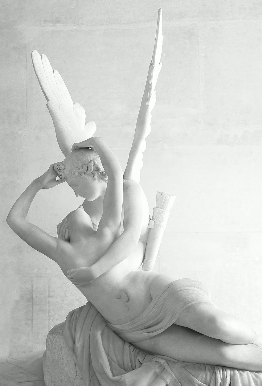 Psyche Revived by Cupids Kiss Sculpture by Antonio Canova