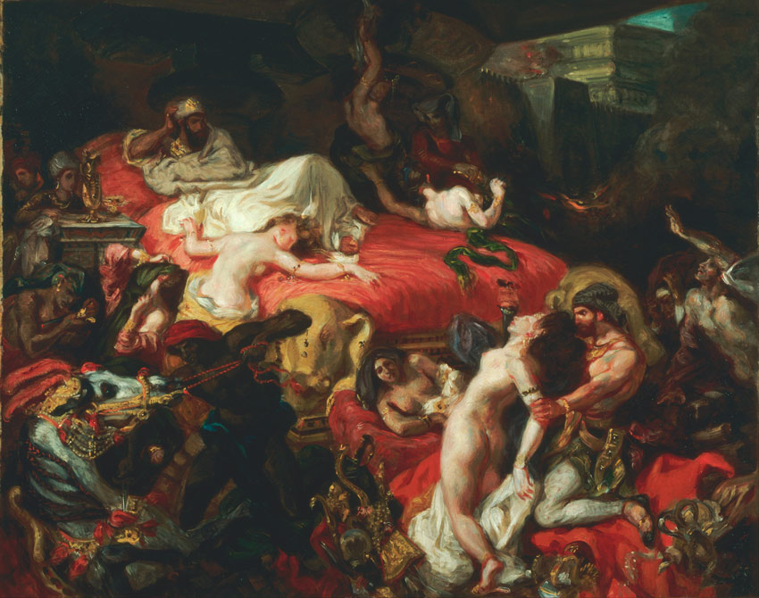 Death of Sardanapalus by Eugne Delacroix