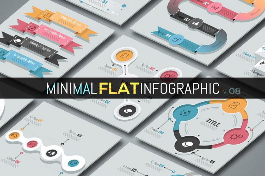 Minimal Flat Infographics V01
