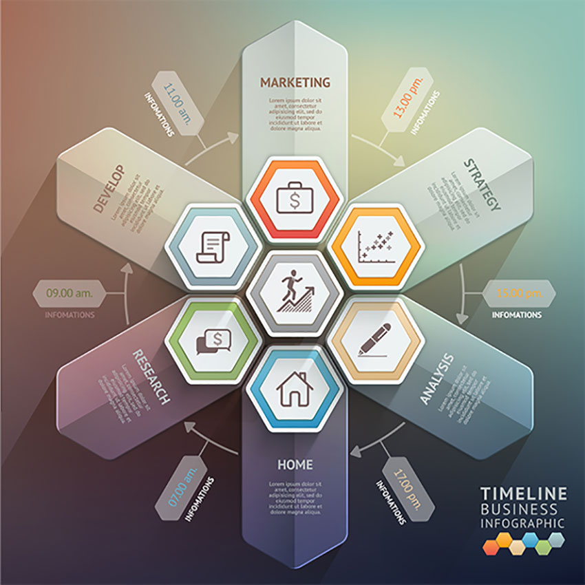 Creative Infographic Templates - Timeline infographic template