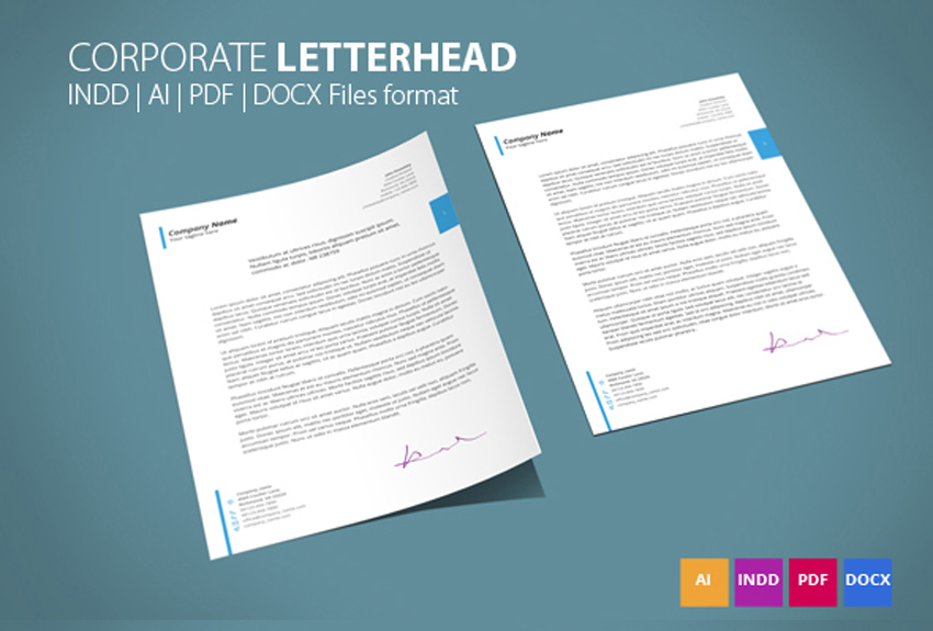 resignations letters templates%0A    Professional Modern Letterhead Templates