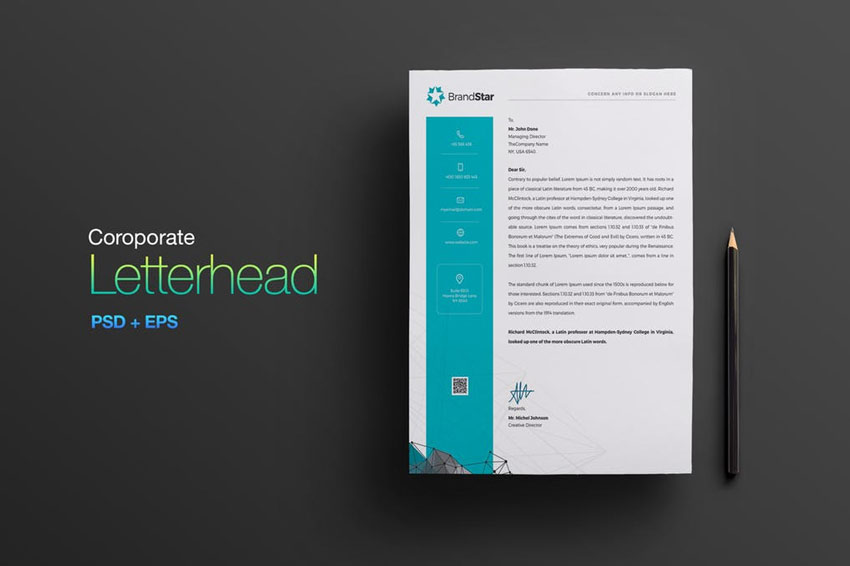 letterhead 5 colors