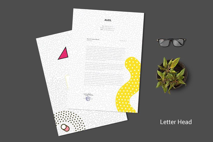 Abstract Letterhead