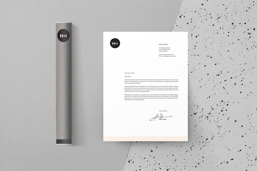 Gray Letterhead Template