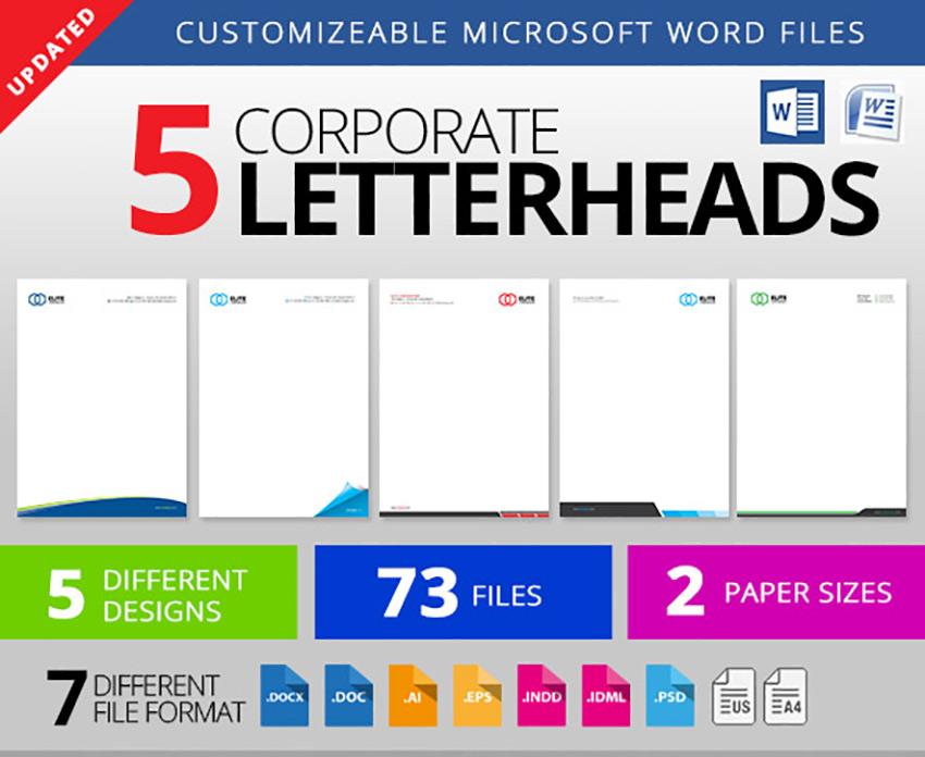 25 Professional Modern Letterhead Templates